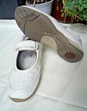 Chaussures plates et ballerines blanches en cuir pour femme   eBay 6e95e2dd3d65