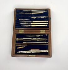 Antique Late 1800's Drawing Compass Instrument Drafting Set by Stanley Of London