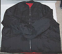 Work Jacket - Quilt Lined - Straight Bottom- Lower Hip Length- Black- USA- 2X|6X