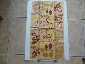 Vtg Mid Century Vera Neumann Linen Tea Hand Towel Signed New Autumn Colors