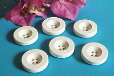 """150C / Chequerboard Big Buttons """" Deauville """" Set Of 6 Buttons Ép. 1960/70"""
