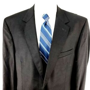 NEW Jos A Bank Signature Gold 44R 2 Button Charcoal Gray Wool Blazer Jacket