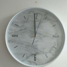 Marble Effect Wall clock round white kitchen Marble Effect 37 cm Wall CLOCK NEW