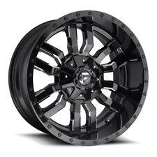 26x14 FUEL D595 8x6.5 ET-75 Black Rims (Set of 4)
