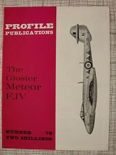 Profile # 78 Gloster Meteor F.IV (Camouflage Markings, World Speed Record, RAF)
