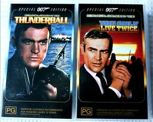 Two Special Edition 007 VHS Movies  Sean Connery  (B3)