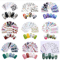 Adesivi per Unghie Fiori Decalcomanie Nail Art Stickers Decals Transfer Kit