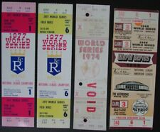 Lot of Four Astros/Mets/Royals Phantom World Series Full Mint Tickets 145452