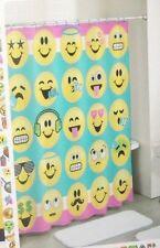 """Em0Ji Fabric Shower Curtain ~ 72"""" X 72"""" ~ Cute~ Gift Idea ~ New W/Tags"""