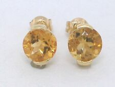 Citrin Ohrstecker 585 Gelbgold 14Kt Gold natürliche facettierte Citrine