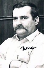 """Poland Pres. Lech Wałęsa 1943- genuine autograph signed photo 3.5x5"""" Solidarnosc"""