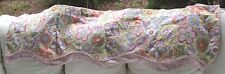 WAVERLY CLASSICS FOR KIDS  BRIGHT COLORFUL FLOWERS DOUBLE SCALLOPED VALANCE