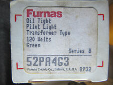 Furnas 52PA4G3 Oil Tight Green Pilot Light 120V NEW!!! in Box Free Shipping