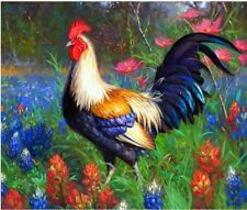 """Chicken Animal 16X20"""" Paint By Number Kit DIY Acrylic Painting on Linen Canvas"""