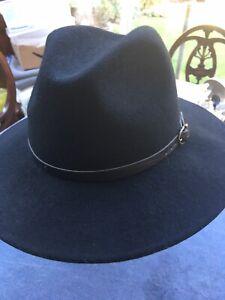 Faustmann Regenhut dunkelblau Wander Hut gefüttert knautschbar wasserabweisend