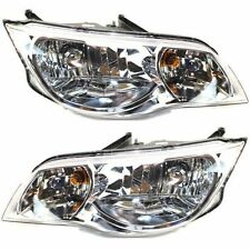 Headlight Set For 2003-2007 Saturn Ion Coupe Driver and Passenger Side w/ bulb