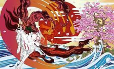 Okami Fire Wolf God Japan Game  Art Print poster (21x13inch) Decor 17