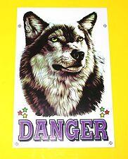 Aufkleber Sticker - Danger WOLF HUSKY HUND             #113