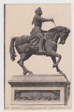 """CPA """" ORLÉANS - La Statue de Jeanne d'Arc - La Place du Martroi"""