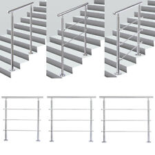 Stainless Stair Handrail with 0/2/3 Cross Bars Hand Rails for Steps In&Outdoor