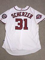 Authentic Max Scherzer On-Field Majestic Washington Nationals Jersey 52 2XL 6300