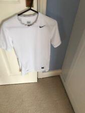 Nike Pro blanc à manches courtes de compression femme taille S homme