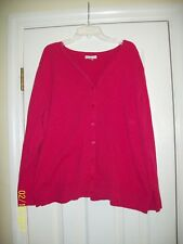 Croft & Barrow Pink Button-up Blouse Long Sleeve Size: 2X - VERY NICE ~