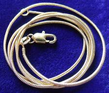 "Premium 18K 24"" Gold Filled Snake Chain, Box Clasp, 10 year warranty. 1.5mm diam"