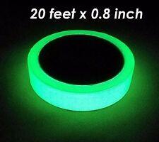 Luminous Tape Sticker 20 feet Length x 0.8 inch width: Photoluminescent green