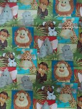 WtW Fabric Traditions Jungle Babies Animals Reed Baby Kid Child 2010 BTY Quilt