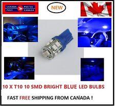 10X T10 LED Blue Xenon 10 SMD/5050/194Bulbs Light 168 W5W license Plate Wedge
