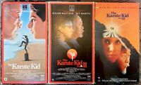"""The Karate Kid"" Part I, II & III VHS Lot Of 3 RCA Columbia Pictures Daniel-San"