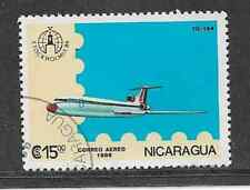 NICARAGUA USED STAMP 1986 AIR MAIL ISSUE - AVIATION - TUPOLYEV - TU 154