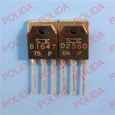 1PAIR OR 2PCS Transistor SANKEN TO-3P 2SB1647/2SD2560 B1647/D2560