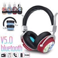 bluetooth 5.0 Sans Fil Ecouteur Stéréo Casque Pliable Mains Libres TF Card 32