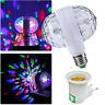 E27 6W Double-Headed LED Ball Stage RGB Light Bulb Rotating Lamp KTV Party Disco