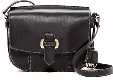 $298 NWT Michael Kors Women's Romy Medium Leather Messenger Crossbody Bag BLACK