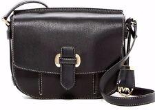 $298 NWT Michael Kors Women's Romy Medium Leather Messenger Crossbody Bag BLACK
