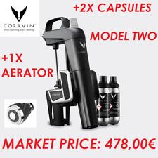 KIT CORAVIN MODEL TWO + AERATOR + 2X CAPSULES ARGON WINE ESTRAZIONE VINO TAPPO