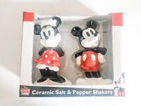 Disney Mickey Mouse Ceramic Salt and Pepper Shaker NEW