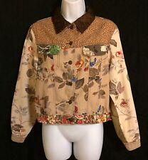 Women's Stonebridge Animal, Floral & Plaid Print Multi-colored Jacket Small