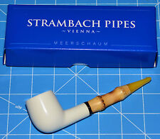 STUDENT Bamboo Handmade Premium MEERSCHAUM pipe by STRAMBACH Austria (bauer) NEW
