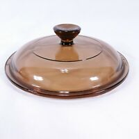 """Vision Ware Amber Lid Replacement Pyrex 6 3/8"""""""