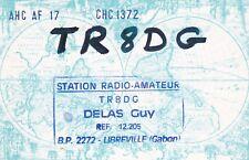 Y261 Carte QSL Radio Amateur Opérateur TN8DG de DELAS a LIBREVILLE au GABON