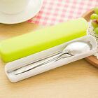 Portable Lunch Tableware Cutlery Set Stainless Steel Spoon Fork Chopsticks IZ