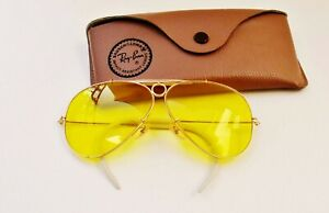 Vintage Busch & Lomb B&L Ray Ban USA Kalichrome Shooter 62mm Glasses  w/ Case