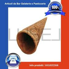 Pz 882 cialda arrotolata per gelato a forma di cono - colore neutro - gelateria