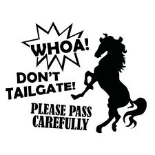 CAUTION HORSE SIGN TRUCK TRAILER Sticker Decal Outback 4x4 Ute Country Aussie...