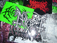 Mayhem Shape Logo Patch Black Metal Morbid Dead Bathory