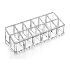 Clear Acrylic Lipstick Holder Display Stand Cosmetic Organizer Makeup Case Q6S6